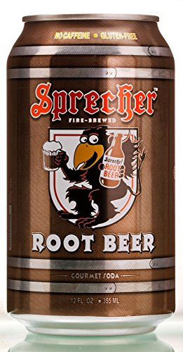 Sprecher Root Beer Can 12 oz (Pack of 12)
