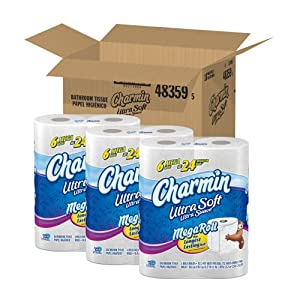 Charmin Ultra Soft, Mega Rolls, 6 Count Packs (Pack of 3) 18 Total Rolls