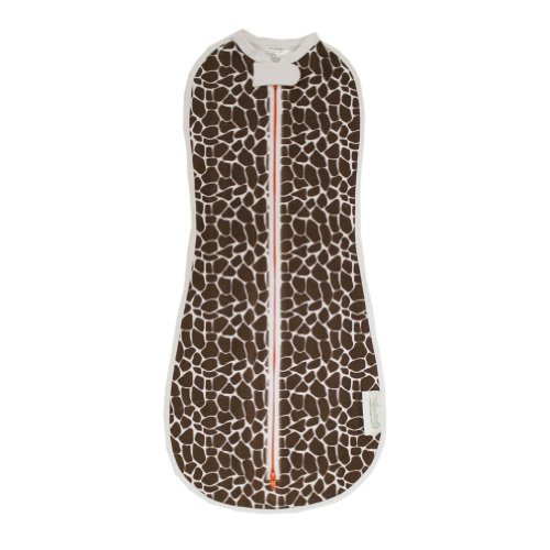 The Original Woombie Baby Cocoon Swaddle (Newborn (5-13 lbs), Brown Giraffe)