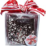Dark Chocolate Peppermint Bark Gift Cube 8 oz.