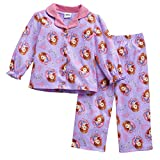Disney Sofia the First Toddler Girls Flannel Button Up Pajama Set
