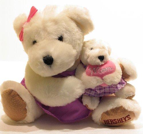 Hershey's Mom Teddy Bear Plush Toy Holding Tiny