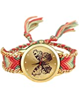 6Colors Original High Quality Women Genuine Leather Vintage Watch bracelet Wristwatches butterfly