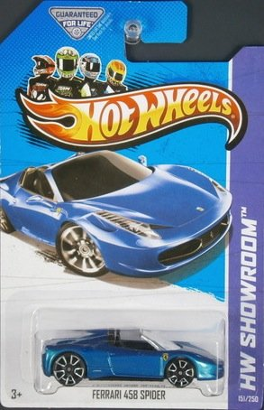 Hot Wheels HW Showroom Ferrari 458 Spider Blue #151/250 - 1