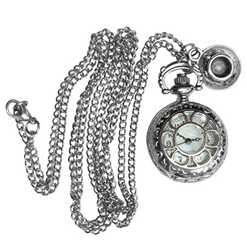 UmbrellaLaboratory Women's Alice In Wonderland Teaparty Pocketwatch Necklacepw1