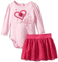 Kids Headquarters Baby-girls Infant Bodysuit and Skirt, Pink, 18 Months
