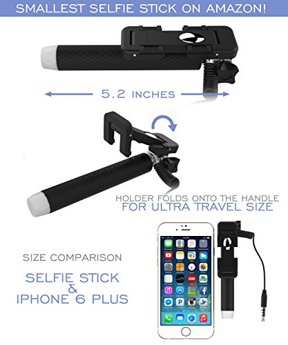 selfie stick battery free 5 in 1 monopod with mirror remote se. Black Bedroom Furniture Sets. Home Design Ideas