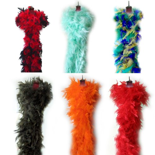 SACAS Feather Chandelle Boa 6 feet long for Photo Props and dance costume