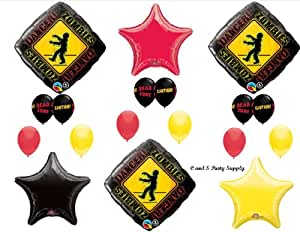 1 X Zombies The Walking Dead Zone Birthday Party Balloons Decorations Supplies NEW!