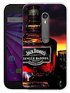 "Humor Gang Old Time Whiskey Printed Designer Mobile Back Cover For ""Motorola Moto G3"" (3D, Matte, Premium Quality Snap On Case)"