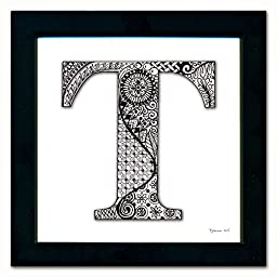T Monogram Pen & Ink