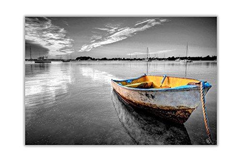 noir blanc dinky bateau toile mur d coration art images posters paysage marin tableau concept. Black Bedroom Furniture Sets. Home Design Ideas