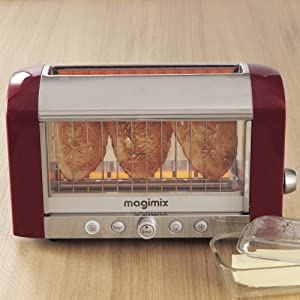 Magimix Colored Vision Toaster: Red