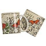 Vintage Floral Mug and Coaster Set