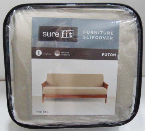 Surefit Twill Futon Slipcover (Tan) front-962281