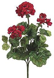 Silk Plants Direct Geranium Bush (Pack of 12)