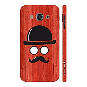 Enthopia Designer Hardshell Case Movember Man Back Cover for Samsung Galaxy J3 Pro
