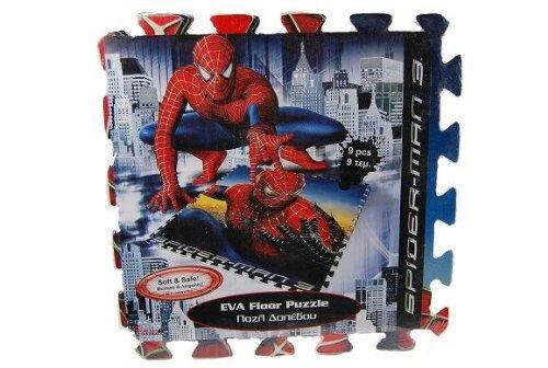 """1 qm PUZZLE TEPPICH """" Spidermann Spider-Man """" aus 9 Stück - Moosgummi Teilen - PUZZLETEPPICH SPIELTEPPICH PUZZLEMATTE - Spielmatte Schaumstoffmatte"""