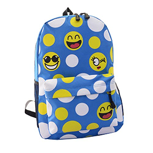 top-shop-womens-canvas-smilies-expression-backpack-travel-daypack-tote-school-shoulder-skyblue-bags