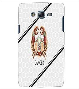 PrintDhaba Zodiac Cancer D-5801 Back Case Cover for SAMSUNG GALAXY J7 (Multi-Coloured)