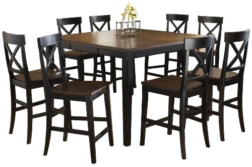 sets hillsdale englewood rectangle counter height 9 piece dining set
