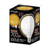 スタイルド LED電球(電球色相当・ボール電球60W相当) E26口金 ボール電球タイプ G95 8.0W 700lm LDG60L1