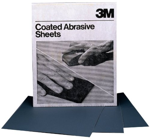 """3M 02002 400 Grit 9"""" X 11"""" Wet Or Dry Tri-M-Ite Sandpaper (413Q) A Weight - 50 Sheets Per Sleeve front-357974"""