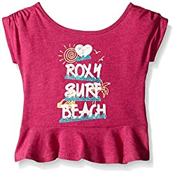 Roxy Little Girls' Lit Surf Beach Tee, Festival Fushion, 5