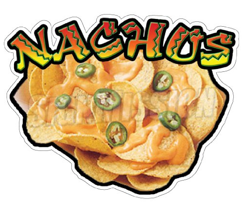 NACHOS Concession Decal stand trailer cart menu cheese
