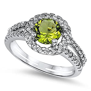 Sterling Silver Cubic Zirconia Ring - Size L 1/2