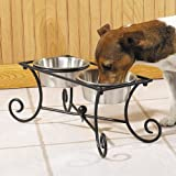 Petstudio Wrought Iron Pet Raised Diner with Bowls, 1-Quart