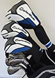 Mens TaylorMade Complete Golf Clubs Set Driver, Fairway Wood, Hybrid, Irons, Putter & Stand Bag Taylor Made Stiff Flex