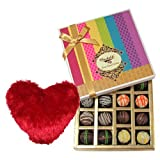 Valentine Chocholik's Belgium Chocolates - Luscious Taste Truffles Collection With Heart Pillow