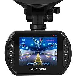 Ausdom AD170 - Cámara vigilancia para coches (2.0 MP CMOS Sensor, grabación automática de detección de movimiento, modo aparcamiento)