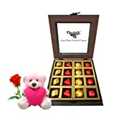 Assorted Chocolates Combo Deal With Teddy And Rose - Chocholik Luxury Chocolates