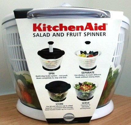 Very Cheap Salad Spinner: KitchenAid: Salad & Fruit Spinner in white