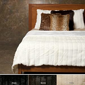 Best Home Fashion 3 Pcs Faux Fur Duvet Cover Set - White Mink at Sears.com