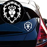 """World of Warcraft Alliance Decal Sticker for Car Window, Laptop and More. # 817 (4"""" x 3.1"""", White)"""