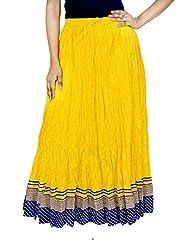 Rangreja Women's Skirt (WESK101SYB38_Yellow_38)