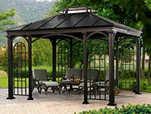 Amazon.com: Hardtop Aluminum Gazebo: Patio, Lawn & Garden