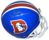 "Terrell Davis Autographed/Signed Denver Broncos Full Size Throwback Helmet ""SB XXXII, XXXIII Champs"" at Amazon.com"