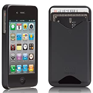 Case-Mate ID Credit Card Slim Case for iPhone 4 (Black)