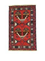 L'Eden del Tappeto Alfombra Beluchistan Rojo / Multicolor 85 x 138 cm