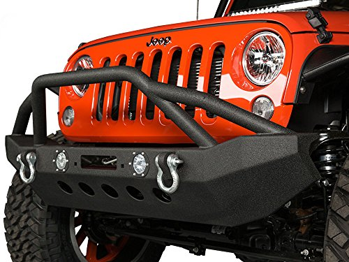 Havoc Jeep Wrangler 07-16 Jackhammer JK Front Bumper with LED Fog Lights (Bumper Jeep Jk compare prices)
