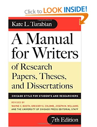 Image: Cover of A Manual for Writers of Research Papers, Theses, and Dissertations by Kate Turbian