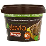 Torras Stevia Hazelnut Chocolate Spread 200 g (Pack of 2)