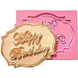 【Ever garden】 誕生日 HAPPY BIRTHDAY シリコンモールド / 手作り 石鹸 / バスボム / キャンドル / 粘土 / レジン / シリコン モールド / 型 抜き型 キット / ハンドメイド 制作