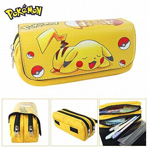 Astuccio da scuola 2 Scomparti Pokemon Pikachu