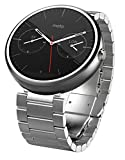 Motorola Moto 360 - Light Metal, 23mm, Smart Watch