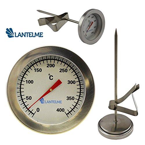 Lantelme Edelstahl Friteusen - Öl - Fett Thermometer